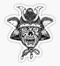 Bushido Zombie Sticker
