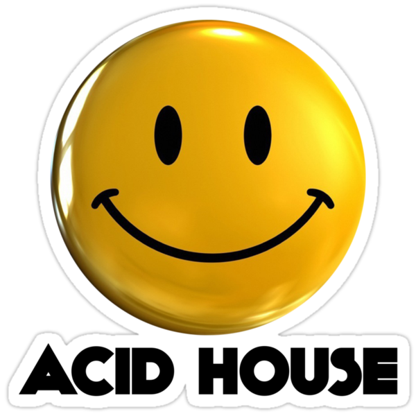 Acid house smiley stickers by rudieseventyone redbubble for Acid house 90s