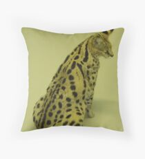 Cleo The Cerval Throw Pillow