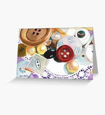 Doilies and Buttons Greeting Card