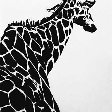 High Contrast Giraffe by rosem-arts