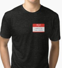 Cumber Collective Name Tag (small) Tri-blend T-Shirt