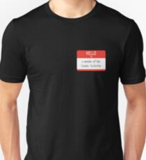 Cumber Collective Name Tag (small) Unisex T-Shirt