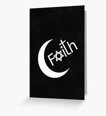 Faith - Carbon Fibre Finish Greeting Card