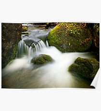 Mountain Stream Waterfall Poster
