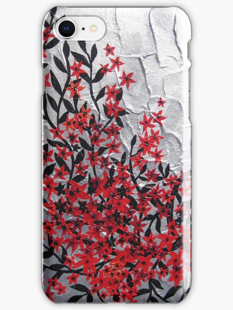 Red and black modern phone design by cathyjacobs