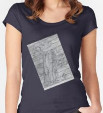 Wood Flooring... a doodle! Women's Fitted Scoop T-Shirt