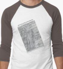 Wood Flooring... a doodle! Men's Baseball ¾ T-Shirt