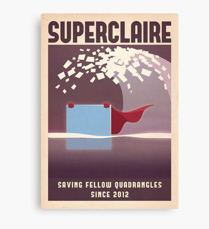 SUPERCLAIRE - Thomas Was Alone Canvas Print