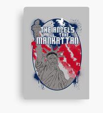 the angels take Manhattan Canvas Print