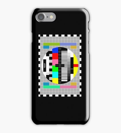 Television Test Pattern iPhone Case/Skin