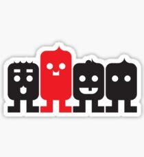 4 Little Robots Sticker