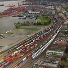 Vancouver Downtown East Side From Above by Wolf Read