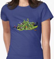 Hideously Mutated Ninja Turtles Women's Fitted T-Shirt