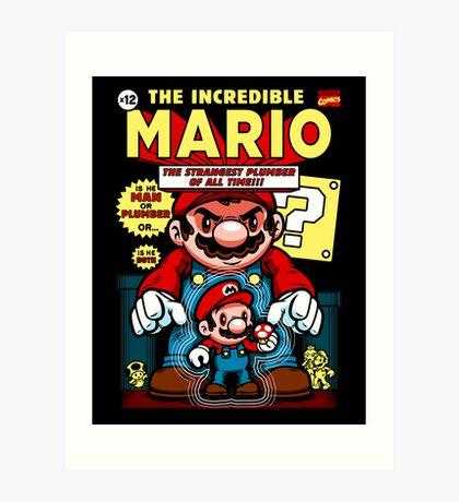 Incredible Mario Art Print
