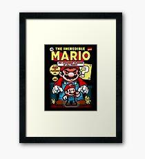 Incredible Mario Framed Print