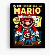 Incredible Mario Canvas Print