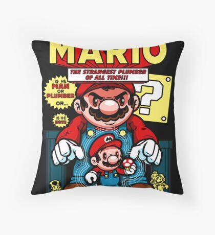 Incredible Mario Throw Pillow