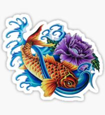 Vivid Koi Sticker