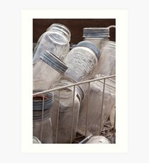 glass jars Art Print