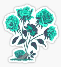 Snails N' Roses Sticker