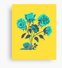 Snails N' Roses Canvas Print