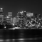 Sydney Opera House Mono by Philip Mack