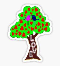 °•Ƹ̵̡Ӝ̵̨̄Ʒ♥Romantic Lovebirds Kissing on a Love-Tree Clothing & Stickers♥Ƹ̵̡Ӝ̵̨̄Ʒ•° Sticker