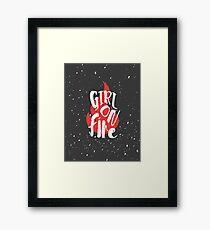 The Girl On Fire Framed Print
