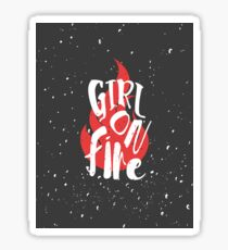 The Girl On Fire Sticker
