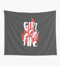 The Girl On Fire Wall Tapestry
