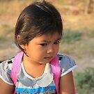 Cambodian School girl by sarcalder