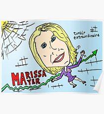 tumblr owned by Yahoo Marissa Mayer cartoon Poster