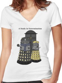 A Study in Extermination Women's Fitted V-Neck T-Shirt