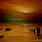 A Walk on the Beach by Cherie Roe Dirksen