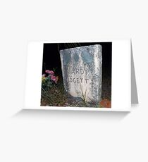 Padgett Grave Stone Artistic Photograph by Shannon Sears Greeting Card