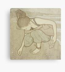 Seashells - Art Nouveau Metal Print