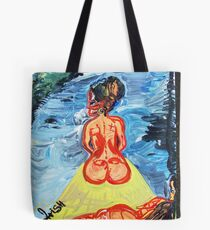 WOMEN ON A JOURNEY - acrylic, tempera, paper 18 x 24 Tote Bag