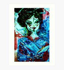 CHERRY BLOSSOM - acrylic, oil, canvas on board 18 x 24'' Art Print