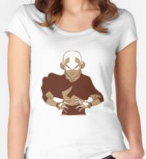 Minimalist Aang from Avatar the Last Airbender Women's Fitted Scoop T-Shirt