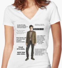 The Best of the 11th Doctor Women's Fitted V-Neck T-Shirt