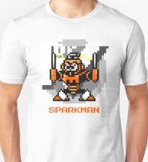 Spark Man with Orange Text T-Shirt