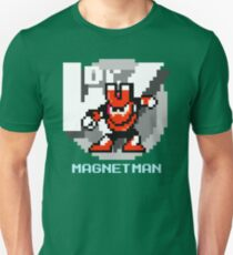 Magnet Man with Ice Blue Text T-Shirt