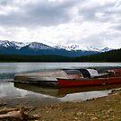 Canoes in Jasper, Alberta  by Jessica Chirino Karran