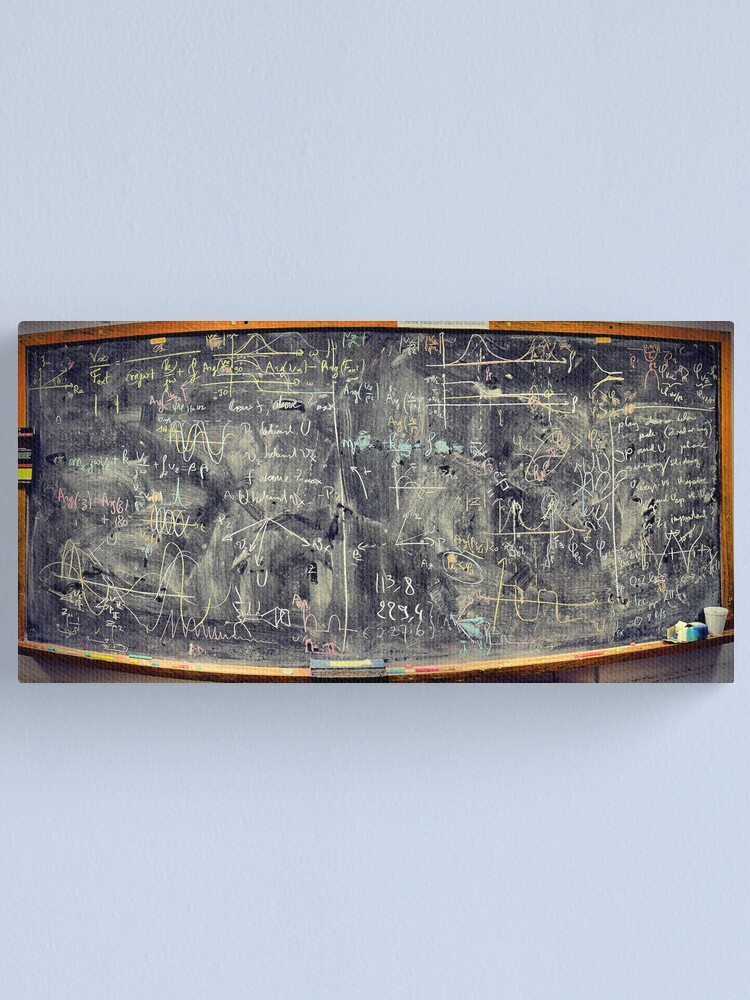 Alternate view of Please don't clean this blackboard Canvas Print
