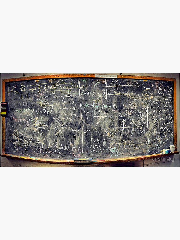 Please don't clean this blackboard by andreisky