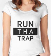 Run Tha Trap Shirt | Fresh Thread Shop [Blk] Women's Fitted Scoop T-Shirt