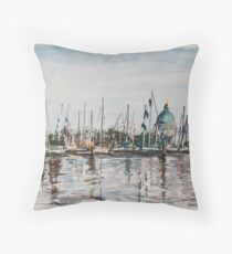 Boat Show Weekend Throw Pillow