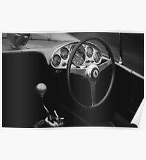 Klassisches Ferrari-Interieur Poster