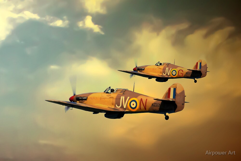 6 Squadron Hurricanes by Airpower Art